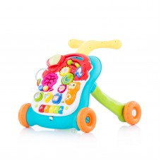 Chipolino Musical baby walky  2 in 1 Multi green