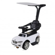 Chipolino Ride on car with handle and canopy Speed white