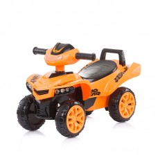 Chipolino Детска музикална кола за яздене АТВ, оранжева