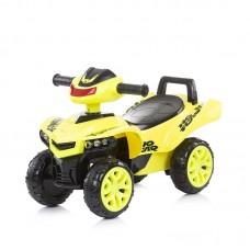 Chipolino Детска музикална кола за яздене АТВ, жълта