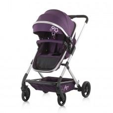 Chipolino Бебешка комбинирана количка с трансформираща седалка Нома аметист
