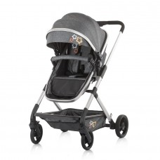 Chipolino Бебешка комбинирана количка с трансформираща седалка Нома графит