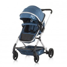 Chipolino Бебешка комбинирана количка с трансформираща седалка Нома индиго