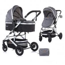 Chipolino Бебешка количка Естел, сива мъгла