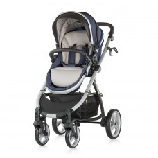 Chipolino Baby stroller and carry cot 2 in 1 Up & Down blue indigo