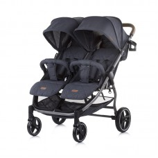 Chipolino Бебешка количка за две деца 2 Classy, карбон