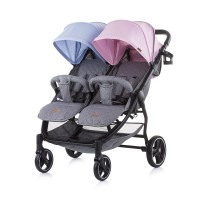 Chipolino Baby stroller for two kids 2 Classy, blue - pink