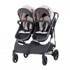 Chipolino Twin Stroller Duo Smart beige linen