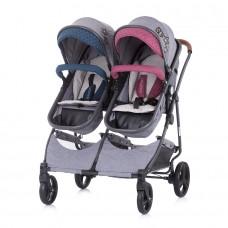 Chipolino Twin Stroller Duo Smart boy/girl linen