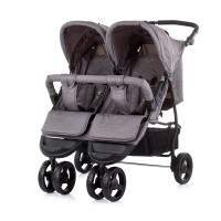 Chipolino Baby stroller for two kids Maxi Mix, asphalt