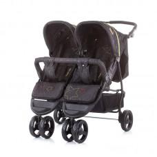 Chipolino Бебешка количка за две деца Макси Микс, карбон