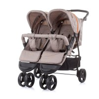 Chipolino Baby stroller for two kids Maxi Mix, latte