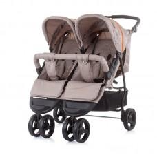 Chipolino Бебешка количка за две деца Макси Микс, лате