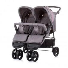 Chipolino Бебешка количка за две деца Макси Микс, синьо - розово