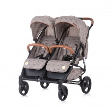 Chipolino Twin Stroller Passo Doble mocca
