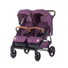 Chipolino Twin Stroller Passo Doble orchid