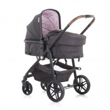 Chipolino Бебешка комбинирана количка с трансформираща седалка Адора, божур