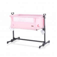 "Chipolino Co-sleeping cradle with drop side, model ""Close To Me"" Pink"