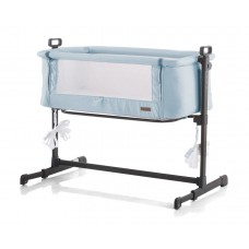 "Chipolino Co-sleeping cradle with drop side, model ""Close To Me"" Blue"