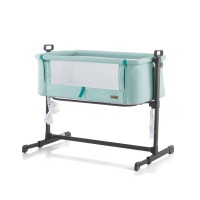 """Chipolino Co-sleeping cradle with drop side, model """"Close To Me"""" Green"""