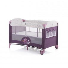Chipolino Baby Play pen and crib with drop side Merida amethyst