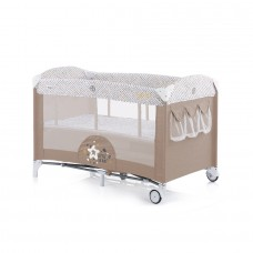 Chipolino Baby Play pen and crib with drop side Merida caramel