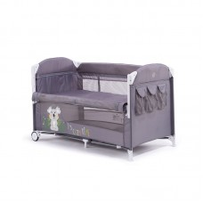 Chipolino Foldable travel cot with drop side Merida, mist