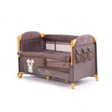 Chipolino Foldable travel cot with drop side Merida, vanilla