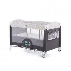 Chipolino Baby Play pen and crib with drop side Merida granite grey