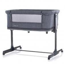 Chipolino Co-sleeping crib with drop side, model Mommy 'n Me 2 in 1, graphite