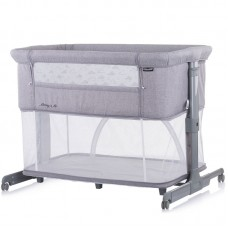 Chipolino Co-sleeping crib with drop side, model Mommy 'n Me 2 in 1, grey