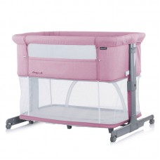 Chipolino Co-sleeping crib with drop side, model Mommy 'n Me 2 in 1, pink