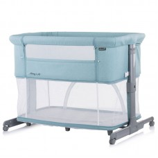 Chipolino Co-sleeping crib with drop side, model Mommy 'n Me 2 in 1, blue