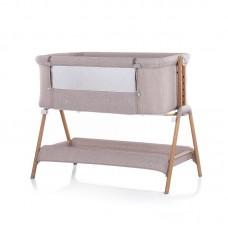 Chipolino Co-sleeping crib with drop side Sweet Dreams, Beige