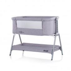 Chipolino Co-sleeping crib with drop side Sweet Dreams, grey