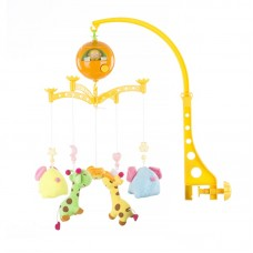 Chipolino Musical mobile for bed, Giraffes and elephants