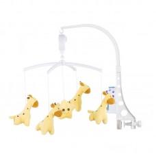 Chipolino Musical mobile for bed, Sweet giraffes