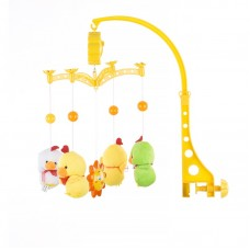 Chipolino Musical mobile for bed, Two yellow ducks