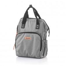 Chipolino Backpack/diaper bag, grey linen