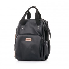 Chipolino Backpack/diaper bag black leather