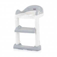 Chipolino Toilet trainer seat with ladder Tippy, white