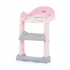 Chipolino Toilet trainer seat with ladder Tippy, pink