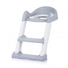 Chipolino Седалка за тоалетна със стълба Типи, сива