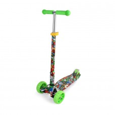 Chipolino Kid's toy scooter Croxer Evo green graffiti