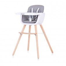 Chipolino Baby High chair 2 in 1 Woody grey