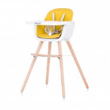 Chipolino Baby High chair 2 in 1 Woody yellow