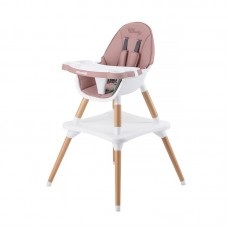 Chipolino High chair 3 in 1 Classy, peony pink