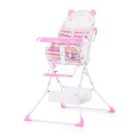 Chipolino Maggy Baby High Chair pink bear