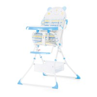 Chipolino Maggy Baby High Chair blue bear