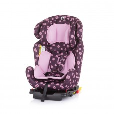 Chipolino Car seat groups 0+,1,2,3 Campo Isofix dots rose